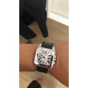 5c52b5d8cb9 Relogio Cartier Santos Dumont Masculino Pulso - Relógios De Pulso no ...