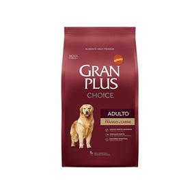 Ração Cães Granplus Choice Frango E Carne 15kg + Brinde