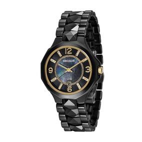 Relógio Feminino Seculus Analógico Preta 20540l0svnq1