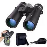 10x42 Binoculares Para Adultos Compacto Profesional Hd Prism