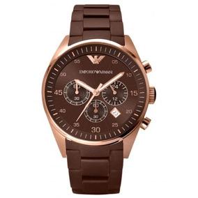 96af1dd4dd3 Relógio Emporio Armani Ar5890 Ouro Rose Com Marrom Show - Relógios ...