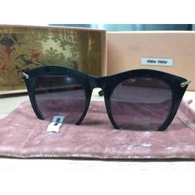 Óculos De Sol Feminino Miu Miu Rasoir Grafite. R  279 90 db40d7919c
