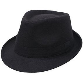 8cf32e1f87cb2 Sombreros De Fedora Para Hombre Unisex Manhattan Negro Fedor