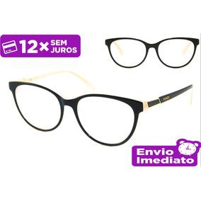 Armação Óculos P  Grau Feminino Fd0086 Acetato 16dbe79be2