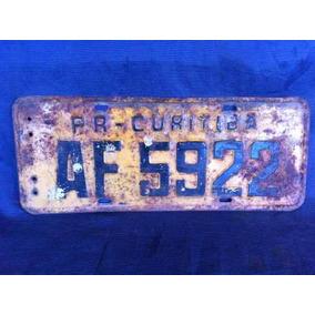 Lote 6 Placa De Carro, Transito, Outros Ferro, Metal Antiga.