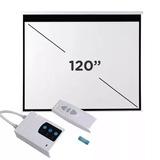 Pantalla Proyector Electrica 120 Pulgadas Control - Envio