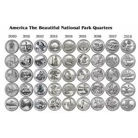 Serie Completa 46 Parques Americanos 25 Cents 2010 A 2019 Fc