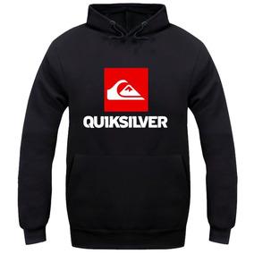 Blusa De Frio Da Quiksilver - Moletom Masculinas Preto no Mercado ... a713646640