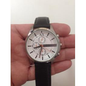 Relógio Armani Ax2165 Pulseira De Couro