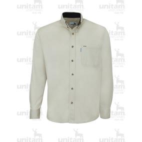 Camisa Gabardina Ligera 100% Algodón Manga Larga De Oficina