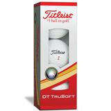Caixa C/3 Bolas De Golf Titleist Dt Trusoft Original !