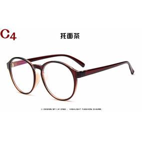 Kit Duas Armações De Óculos Acetato Redondo Bu a53c53ed41