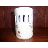 Portavelas Ceramica Mariposas Home Interiors