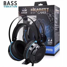 Headset Gamer 7.1 Usb P2 Kp417 Bassvibração Adaptador Ps4 Pc
