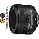 Nikon Objetivo Nikkor Af-s 50mm F/1.8g + Parasol + Estuche