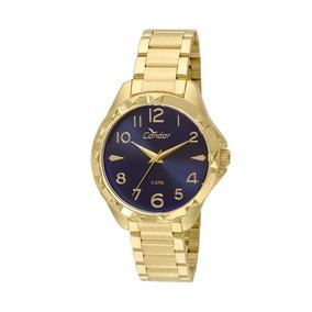 Relógio Condor Feminino Dourado Co2035ksj/4a Pronta Entrega