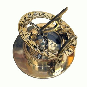 09e23a869157 Sólido Latón 3 Pulgadas Reloj De Sol Brújula Reproducción C