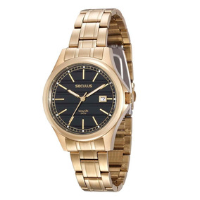 a7d6d647217 Relogio Seculus Dourado Long Life - Relógios no Mercado Livre Brasil
