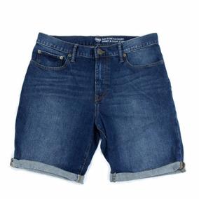 Bermuda Masculina Gap Jeans Stretch Importada Usa