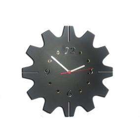 Relógio Mecanismo Em Madeira Laminado Detalhes Em Espelhos