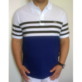 116eab76d3 Camisa Polo Lacoste Masculina Listrada Regular Fit