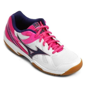 Tênis Mizuno Cyclone Speed Indoor - Branco/rosa Frete Grátis