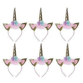 Ninos Ninas Unicornio Diademas Cuerno Fiesta Floral Hairband
