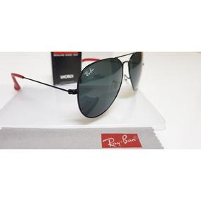 eae229c898838 Óculos De Sol Ray-ban Aviator Scuderia Ferrari Lente Cinza.