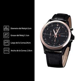 Reloj Para Cabllero Correa De Cuerothreeeyerosegold