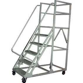 Escalera Metálica Móvil Prontometal 5 Escalones Con Ruedas