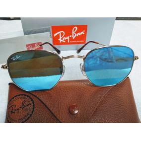 Rayban Hexagonal Azul Espelhado - Óculos De Sol no Mercado Livre Brasil be53f4126f