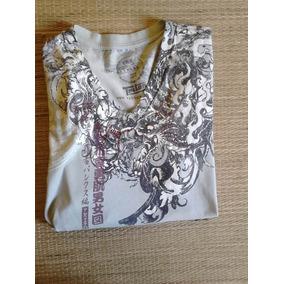 Camiseta Masculina Triton P Dragão Bege
