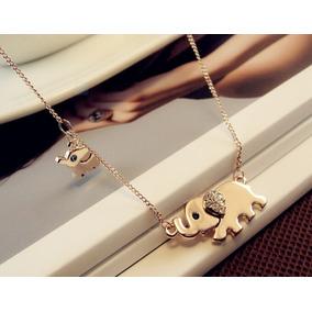 Hermoso Collar Con Dije De Elefante, Paseo Familiar