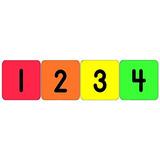 Números 1-20 Eureka Pegatinas