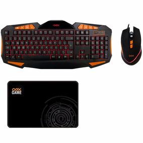 Kit Teclado Led E Mouse Gamer 4000 Dpi Mousepad Oex Gear