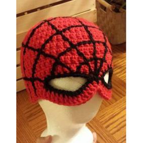 2d0eded49761b Touca Homem Aranha De Crochê Super Heróis