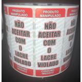 Kit C/ 2 Mil Etiquetas Lacre De Segurança Alimentos Delivery