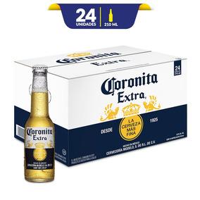 Cerveza Clara Coronita Extra , 24 Botellas De 210ml C/u