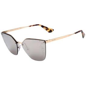 f121e76e3abe4 Prada Pr 68ts - Óculos De Sol Zvn 121 Prata Brilho  Cinza Es