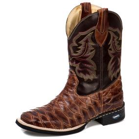 043aada9b1fb0 Bota Country Texana Bico Quadrado Dallas Escamado Tch 224