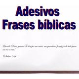 Adesivo Frases Bíblicas Evangélico Cristão Parede Carro