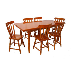 Conjunto De Mesa De Jantar Piratini Com 6 Cadeiras