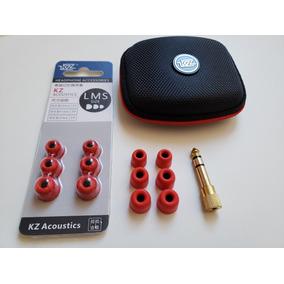 Kit Espuma De Memoria( P, M, G) + Estojo + Adaptador P2 P10