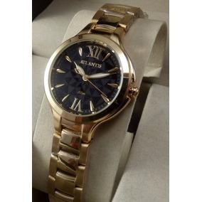 3b2026fa4d7 Relógio Feminino Rose Com Fundo Preto Original - Relógios De Pulso ...