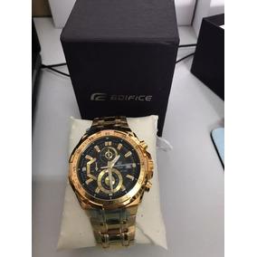 135f05ef07a Relogio Casio Edifice Ef 558 Dourado - Relógio Casio Masculino no ...
