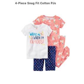 Pijama Niña Talla 5t 4 Piezas Carters