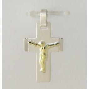 f2b3abc8b372 Dijes De Cruz Con Cristo En Plata Con Oro - Dijes y Medallas en ...