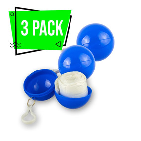 3 Pack Impermeable Portátil Bolsillo Azul Lluvia Llavero