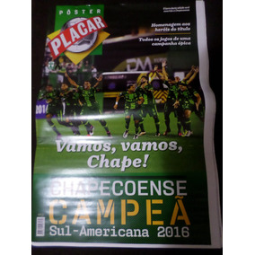 Poster Gigante Placar Chapecoense Campeã Sulamerican 2016