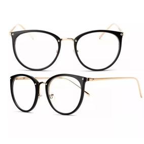 424683557b2d1 Óculos Feminino Armação Grau Geeek Redonda Vintage